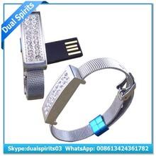 On Hand Wrist Crystal Bangle USB Flash Drive