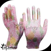 SRSAFETY garden light industrial colored pu glove