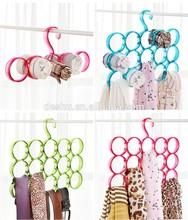 plastic 5/10/15 ring design scarf hanger