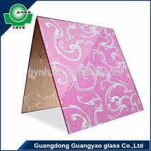 wall decoration silk printing glass
