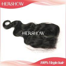 Hershow human hair 100% hand-made lace closure allied human hair