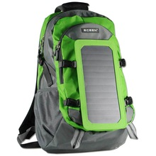 2014 best selling 7W Solar Power Backpack with sunpower solar cell for camping and hiking