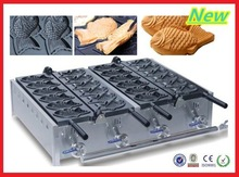 2014 commercial gas fish waffle iron in baking equipment, cast iron fish waffle maker ,fish waffle gas machine for sale