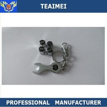 New Style Silver tyre dust cover tire valve cap wrench