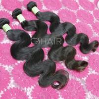 Alibaba hot selling unprocessed body wave brazillian weave top hair
