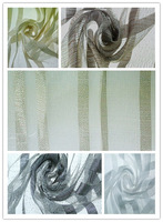 China manufacturer hot sale stripe jacquard design sheer basement window curtains