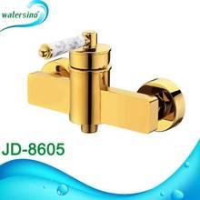Luxury gold color bathroom shower mixer faucet