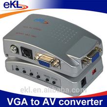 VGA to AV RCA converter box, VGA to audio video converter