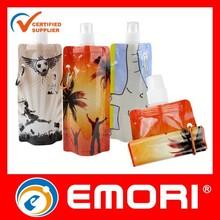 Hot sales personalized BPA Free PET foldable water bag