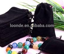 wholesale custom drawstring large black jewelry velvet bag for gifts