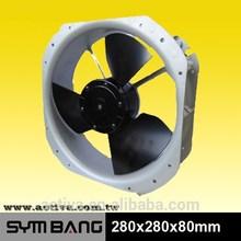 280mm 860cfm 24V industrial ventilation fan (D28080M-DA)