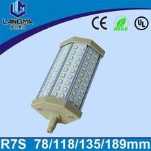 Langma ca 85-265v 36 pcs smd2835 8w 800lm para reemplazo de lámpara halógena de inundación de luz blanca led 118mm r7s 20w