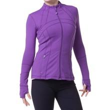 2015 Unique Design Ladies 87% Supplex 13% Lycra Workout Clothing Sexy Fitness Yoga Jacketss for Women