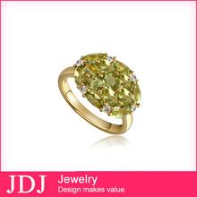 Factory Price Fashion Rhinestone Jewelry 2014 24 / 9 Carat Gold Rings