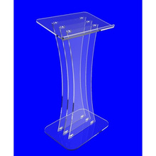 Clear perspex pulpit