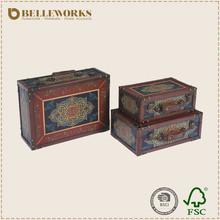 Antique Furniture Italian Reproduction Portable Retro Suitcase Custom Print Cover Suitcase