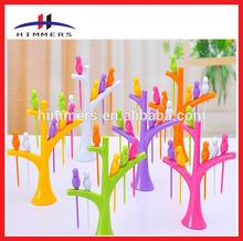 Promotional Plastic Fruit Fork For Home Decoration