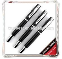 TM-26 2014 fashionable heavy metal gel pen for men , black color metal pen with logo engraved
