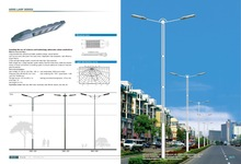 10m single arm street light pole