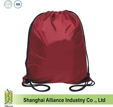 Red 210D polyester drawstring backpack with silver printing(TM-CDR-178)