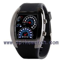 Bule light fashion LED speedometer watch
