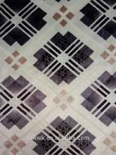 LYB28 square design polyester burnout printed bronzed velvet sofa upholstery fabric