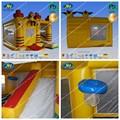 los niños inflables castillo hinchable con juegos de baloncesto