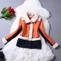 Ms81242b elegante slim o- pescoço dupla- breasted mulheres modelo de casaco curto
