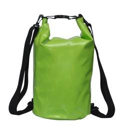 Apple green 500D PVC tarpaulin waterproof dry bag with two shoulders