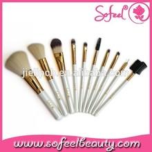 high end beautiful 10pcs makeup brush kit for salons