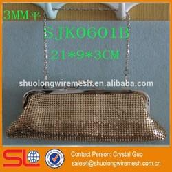 Fashional aluminum beade lady bag,dinner metal bag