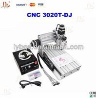 HOT SALE!!! 230W CNC 3020 T-DJ Mini Desktop Engraving Machine 3020 / 2030 Drilling & Milling Carving Router