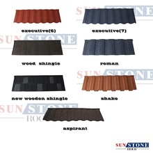 Color Building Materials Stone Coating Roof Sheet / Roofing Tiles