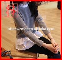 Laides korean twin set woolen design sweater