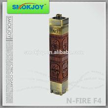 Smokjoy Newest Updated 2014 Wooden E Cigarette EGO Vaporizer Pen N Fire F4 battery