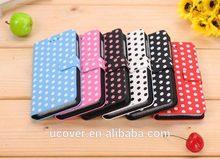 For Blackberry Z10 fashion style polka dot design wallet flip cover case