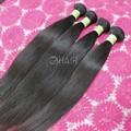 De calidad superior sin procesar 100% brasileña del pelo humano natural negro color