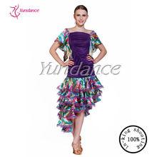2014 Charming cha cha cha latin dance dress for contemporary ladies AB008