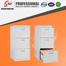steel office furniture file and storage cabinet with 3 drawers