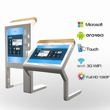 65 inch wall mounted android/windows all in one interactive table touch screen kiosk