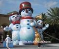 2014 más popular inflable muñeco de nieve traje