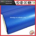 Profesional de la cubierta del coche 1.52*30m auto adhesivo 4d azul pegatina de vinilo fibra de carbono