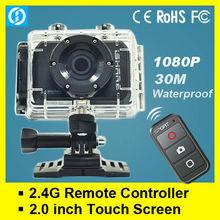 GO PRO Sports Camera With 2.4G remote control ,mini HD1080P Car DVR, Go Pro Waterproof Camera