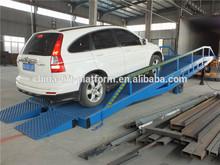 Hidráulico móvel aço rampa de carro, Empilhadeira rampa, Inclinação