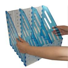 plastic foldable storage divider desk organizer acrylic folder magazine rack