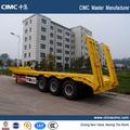 Pesados lowbed semi-reboque fabrico, caminhão de reboque e dimensões