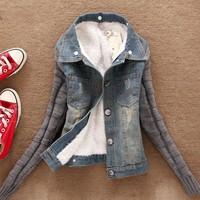 2015 Simple design spring denim jacket women cheap