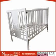 solid wood adjustable nursery baby crib