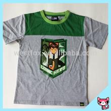 Fashion Top kids short sleeve wholesale cotton t shirt for boy