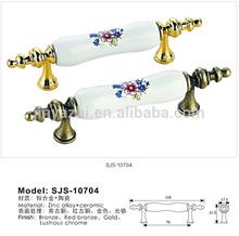 china classical beautiful zinc alloy porcelain ceramic vintage door handles